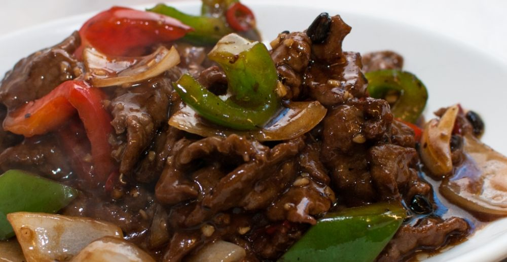 29 beef in black bean sauce black bean sauce with green red peppers ...